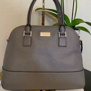 Kate Spade Pebble Gray Leather Shoulder Bag